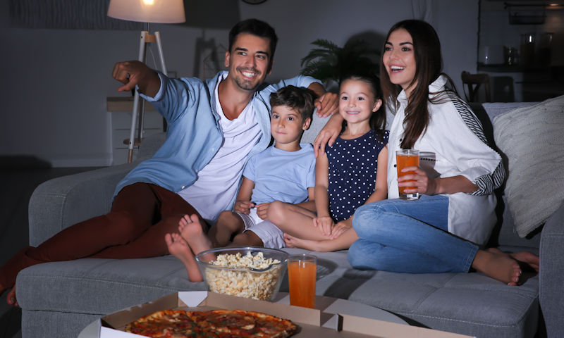 Security Safe - Home Theater Family Night