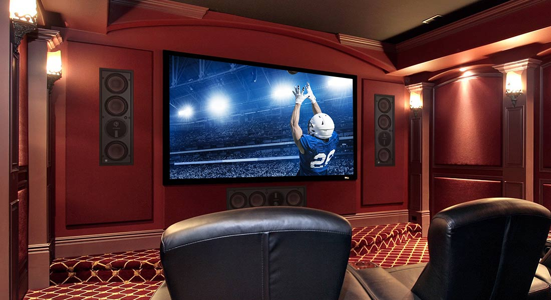 Origin Hifi Blog 7-20 | Classic Home Theater Room with exception surround sound and subwoofer