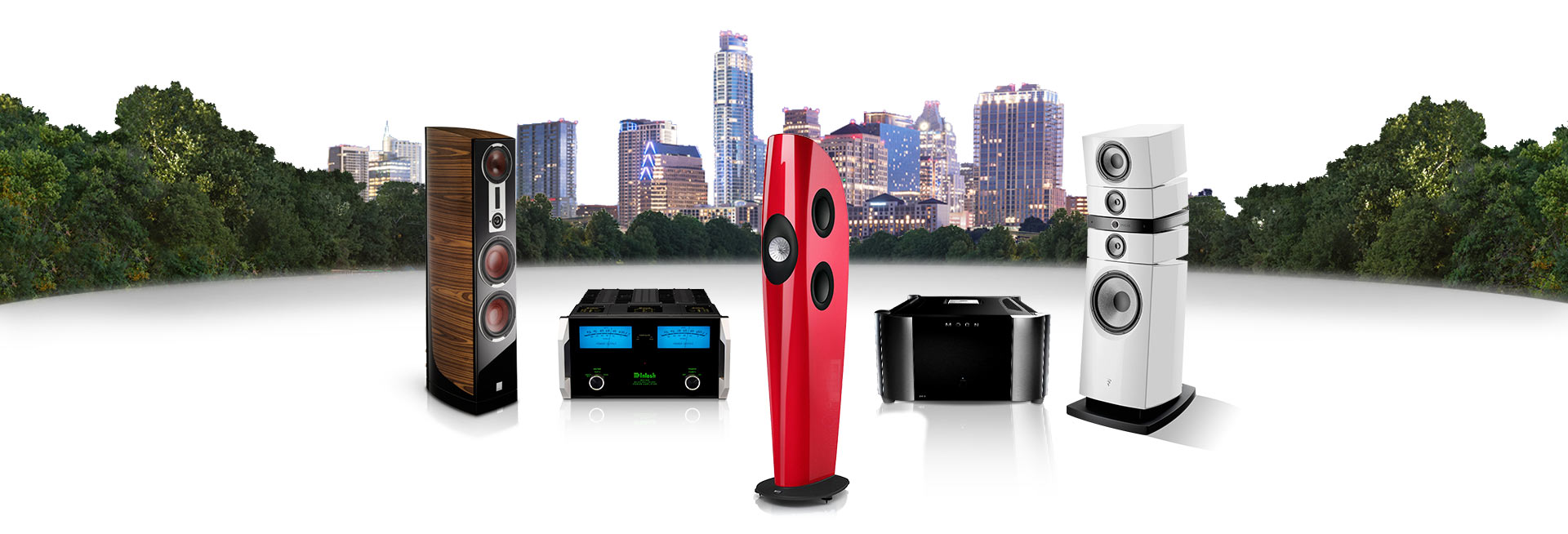 Origin HiFi Home | 2-Channel Audio with Austin Texas in the Background