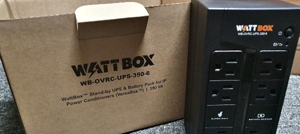 WattBox UPS surge protector.