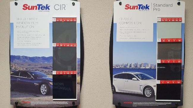 SunTek window tint examples for their CIR and Standard Pro films.