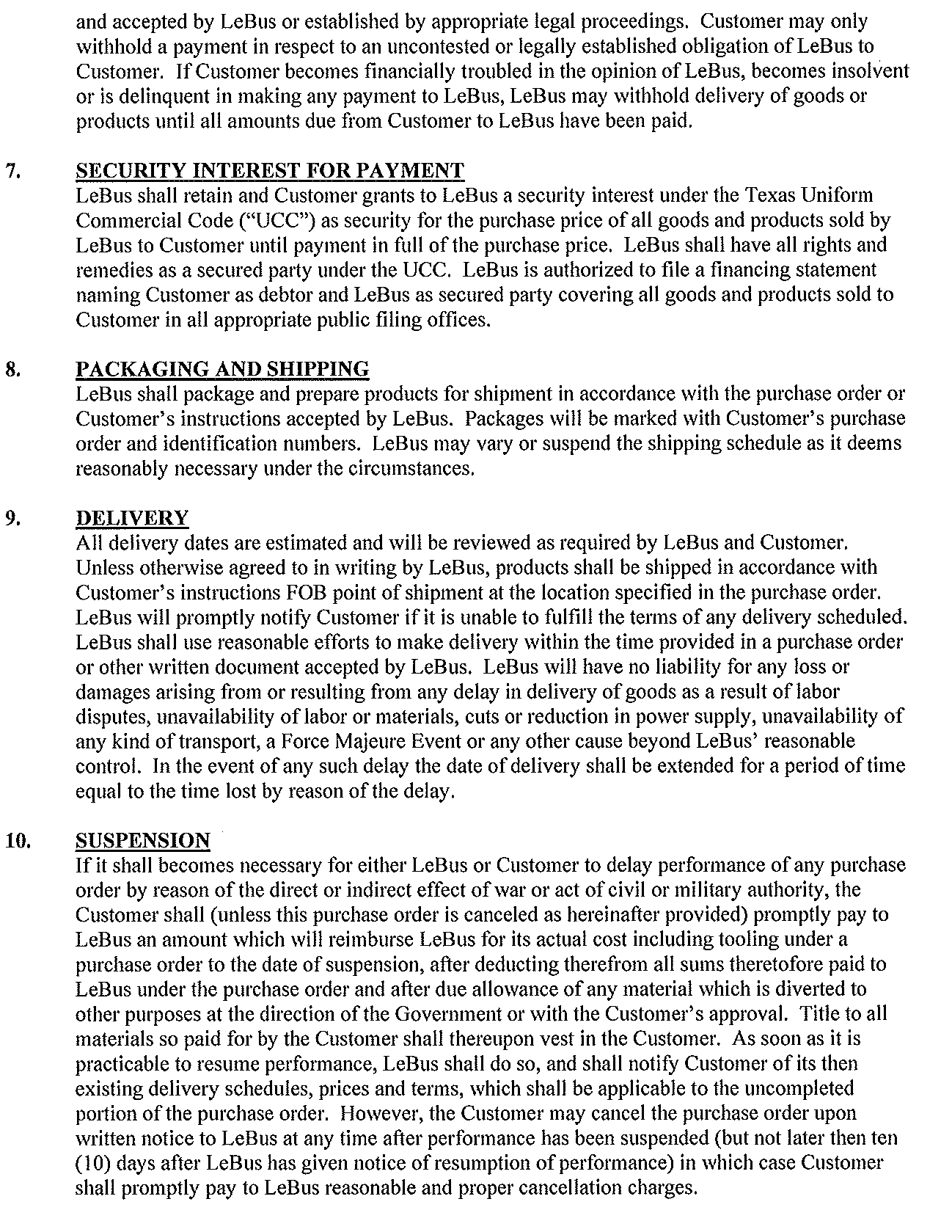 General Terms - Page 2