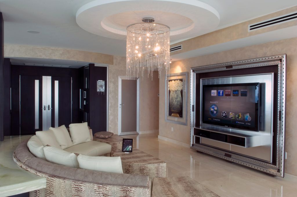 Custom TV frame, concealed Home Theater