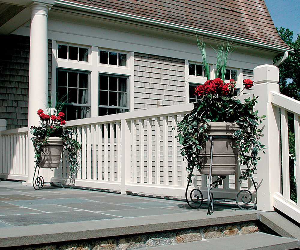 The Granite series outdoor planter speakers