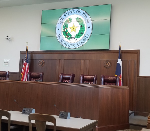 Guadalupe County Courthouse - video wall