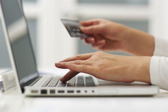 Credit Card laptop