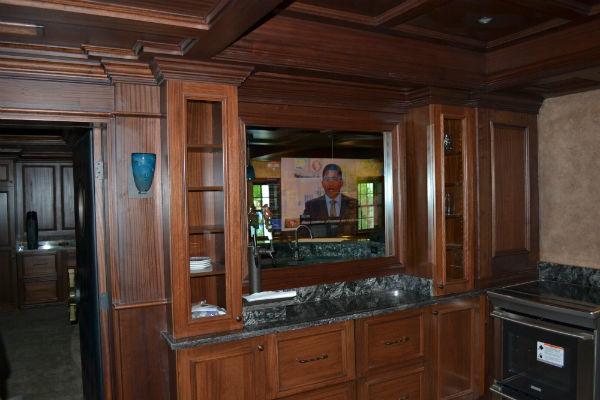 Television Behind Mirror