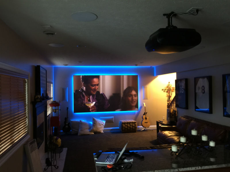 Media Room with SI Black Diamond LED backlit screen