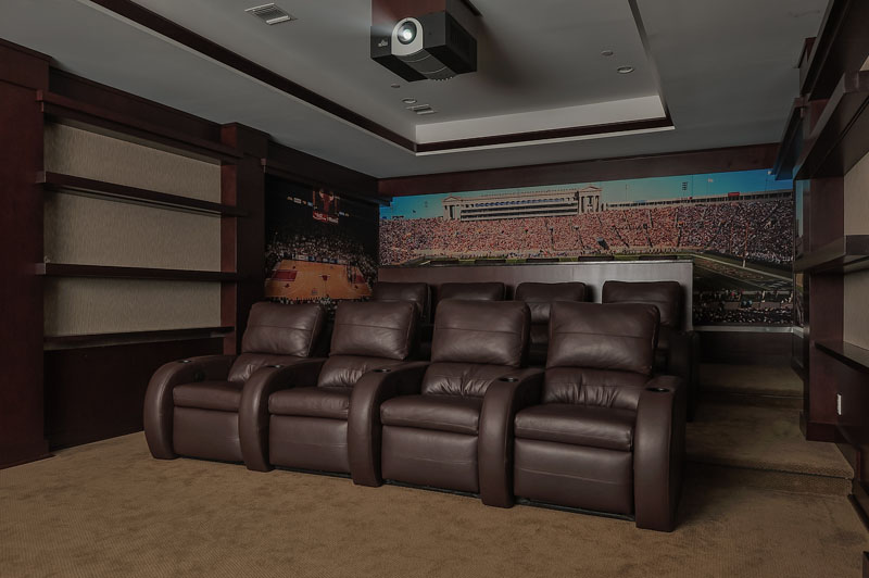 Sit back and relax in your very own Custom Home Theater