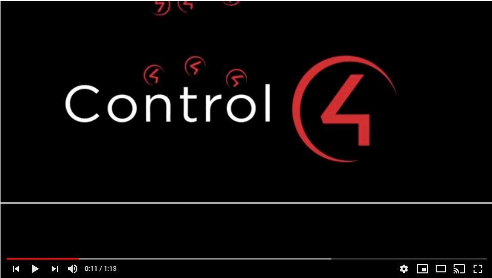 Control4 Total Control Video Screen