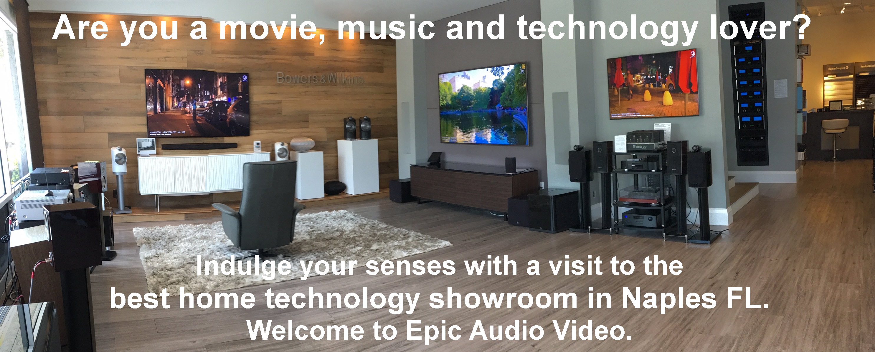 Epic Audio Video front Showroom demo area