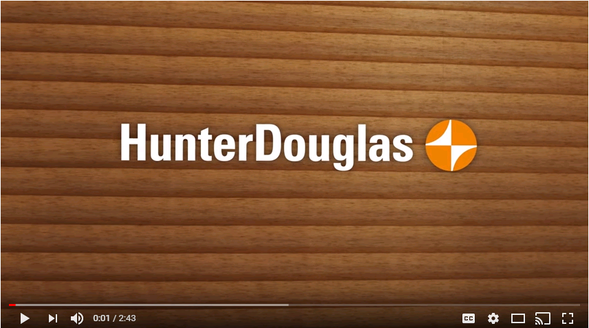 Hunter Douglas Motorized Shade Video Overview