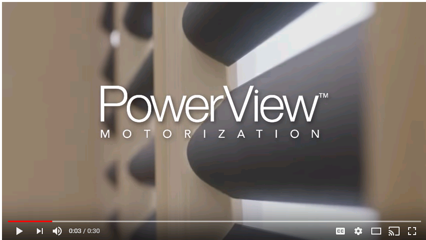 Hunter Douglas Powerview motorized shades