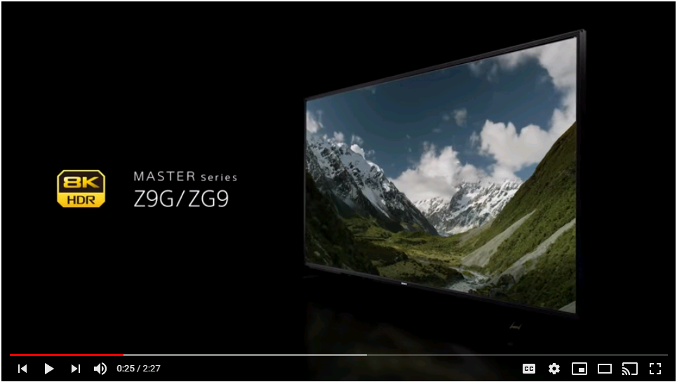 4K TV master series by Sony