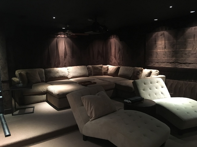Custom Home Theater with hi end audio
