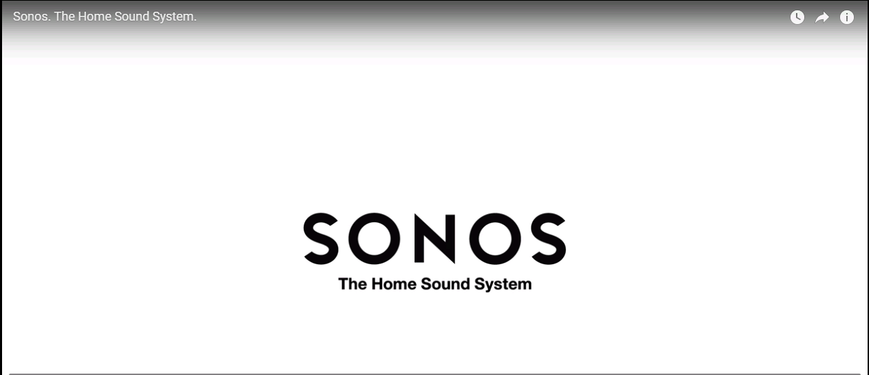 Sonos wireless music system Video link