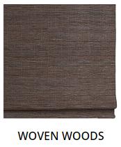 Hunter Douglas Wooven Woods motorized shades