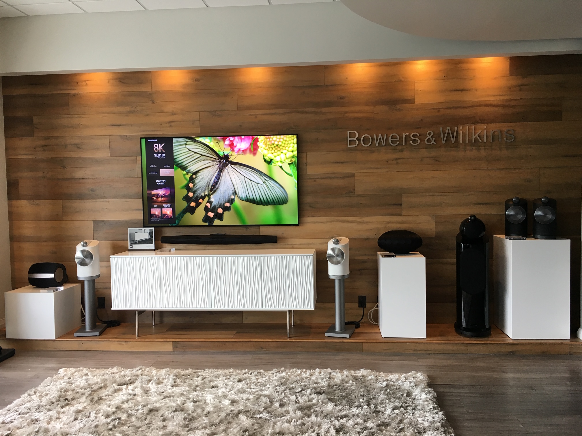 Epic AV Showroom featuring Bowers Wilkins Formation, Samsung, Salamander AV Cabinet