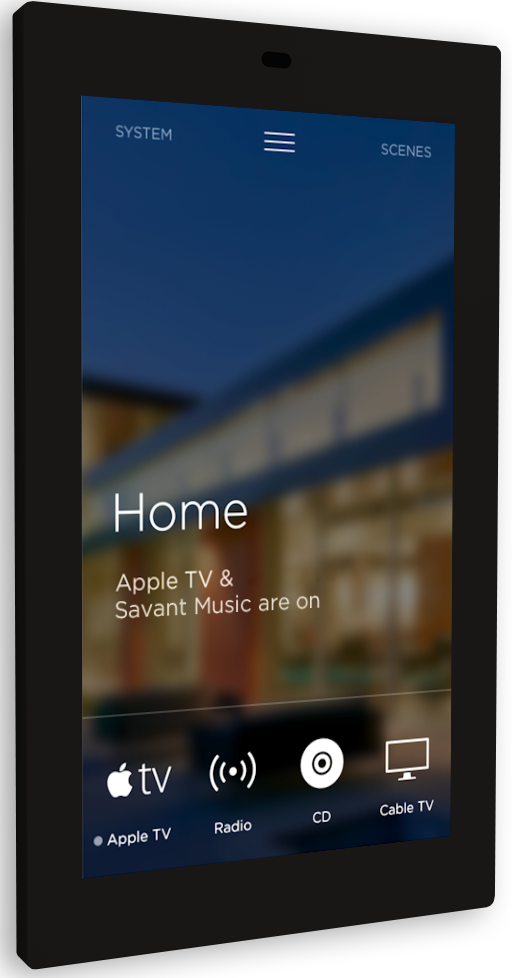 Savant Home Automation Touchscreen Control Home Screen