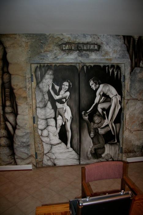 INI AV Gallery - Cave Cinema Entrance Doors
