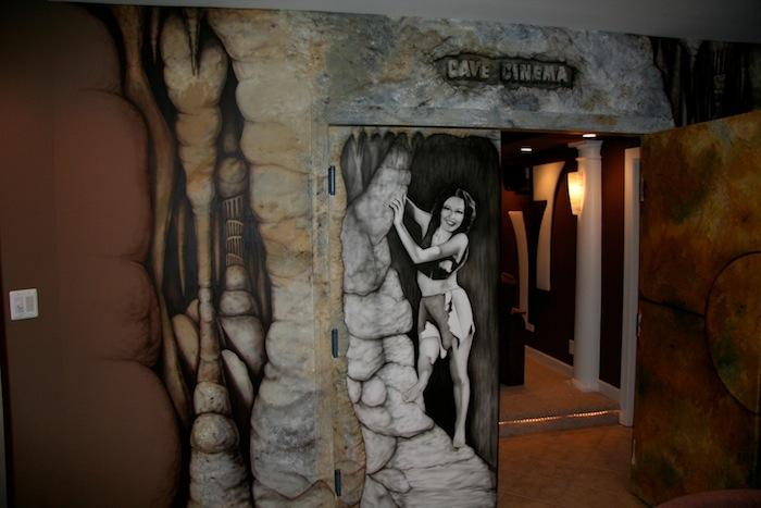 INI AV Gallery - Cave Cinema Entrance Door