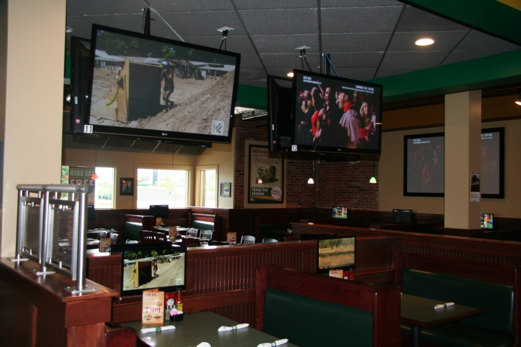 INI AV Gallery - Dulles Green Turtle Pole Mounted Televisions