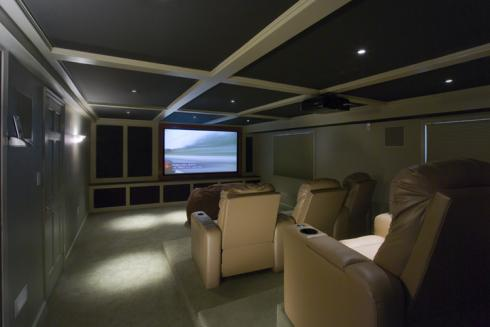 Projects - Andover Theater Room - 1