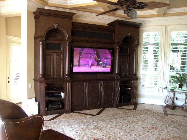Another TV with full access to all the sources in the house and a dedicated BluRay player.