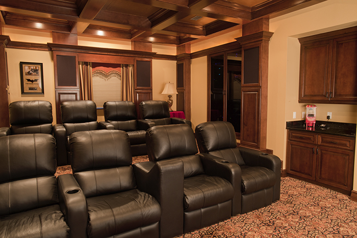 Functionality and beauty come together in this home theater.