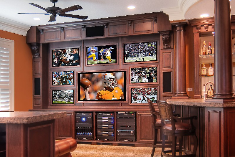 Multiple TV's mean this client won't miss a minute of the action!