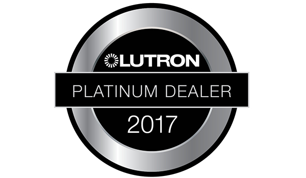 2018 Lutron Platinum Dealer for motorized shades and lighting control in Dallas, TX and the greater DFW metroplex area.