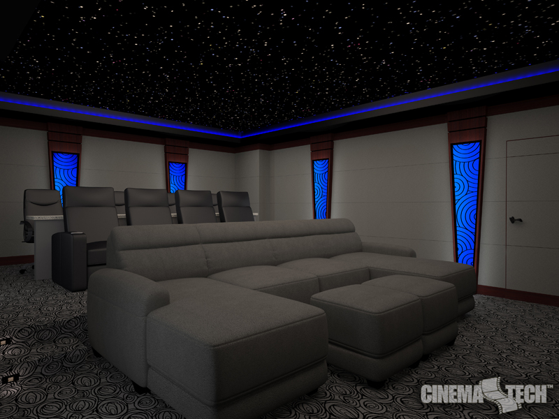 Cinematech is a custom home theater design firm that specifies and designs theaters in Addison.