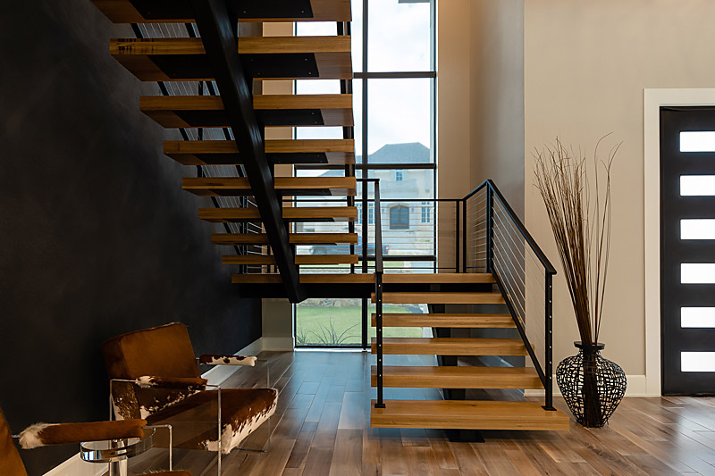 Fort Worth Modern Smart Home featuring Lutron lights and motorized shades, Elan smart controls and Sonance speakers.
