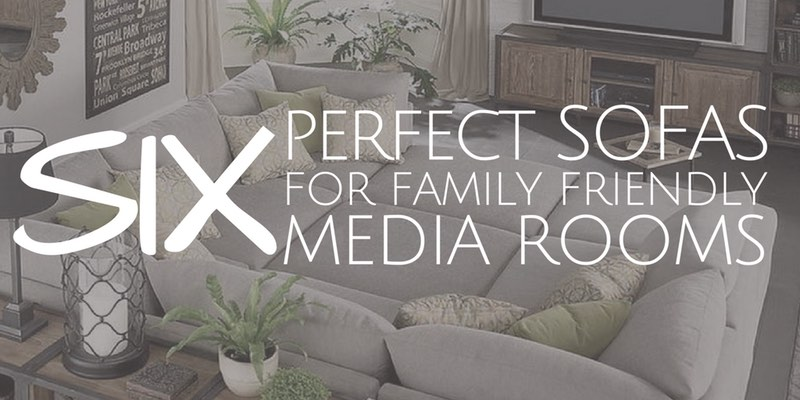 Sectionals and sofas are ideal furniture options for McKinney Texas media rooms and theaters.