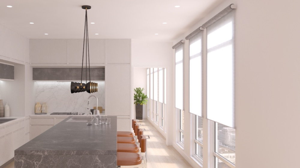 Lutron Palladiom shades are the premier motorized shade in Dallas, TX. Modern hardware fits any decor, and the world class Lutron motors provide silent operation.