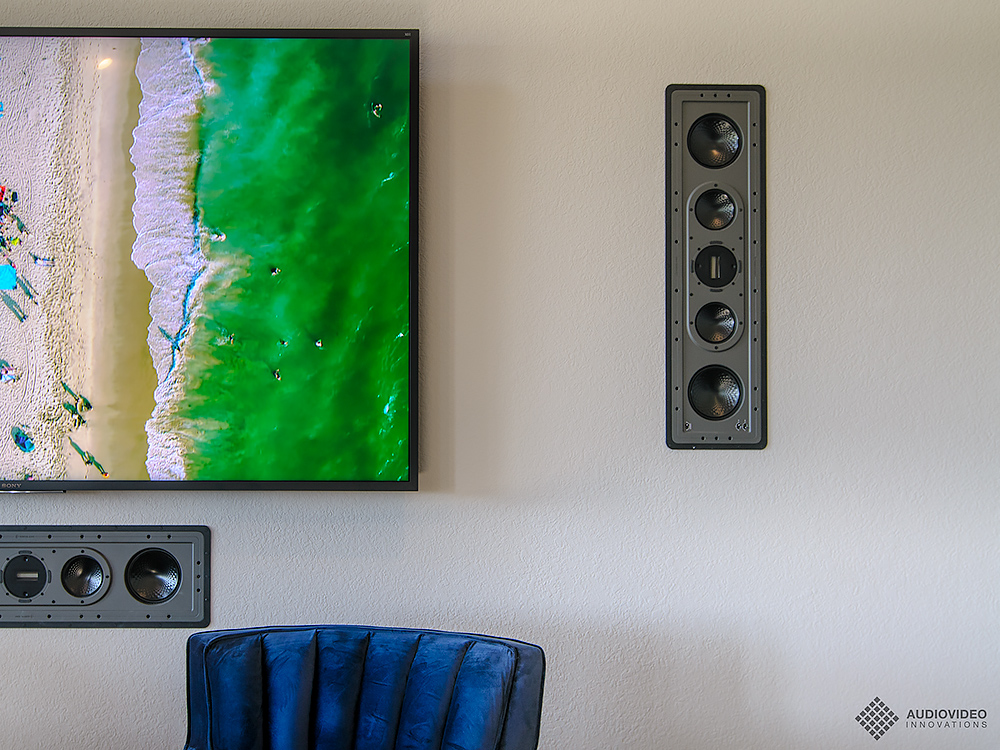 Monitor Audio in-wall LCR speakers for theaters, media rooms and family rooms.