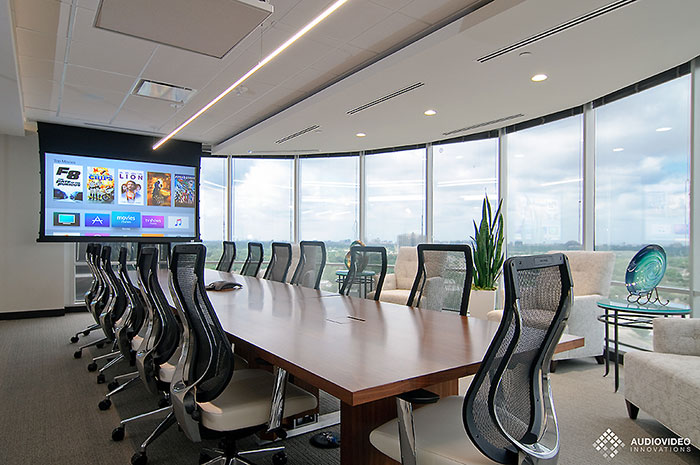 Audio Video Innovations uses brands like Control4, Lutron and ELAN to create functional and reliable conference rooms in Dallas, TX.