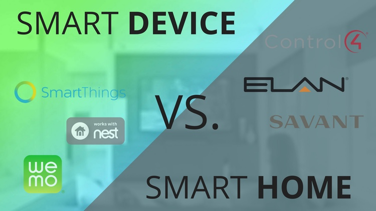 What is the difference between a collection of smart devices or IoT products and a professionally installed Dallas smart home?