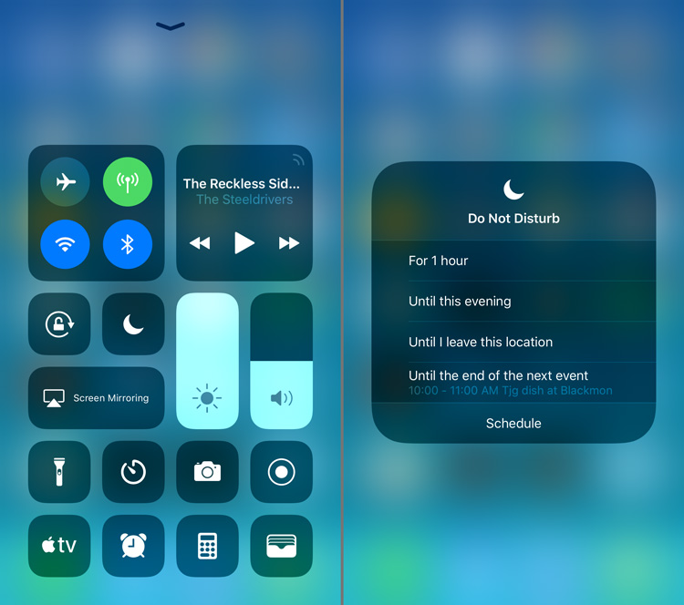 The new ios12 updates adds useful features like updated do not disturb setting, useful for Dallas audio video clients