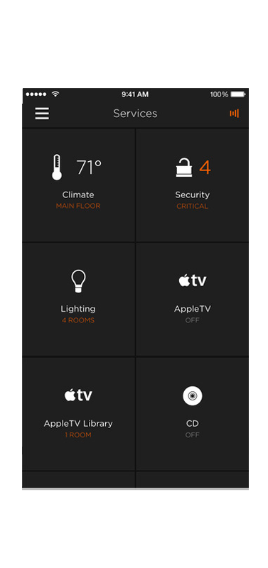 Smart Home - Savant Iphone