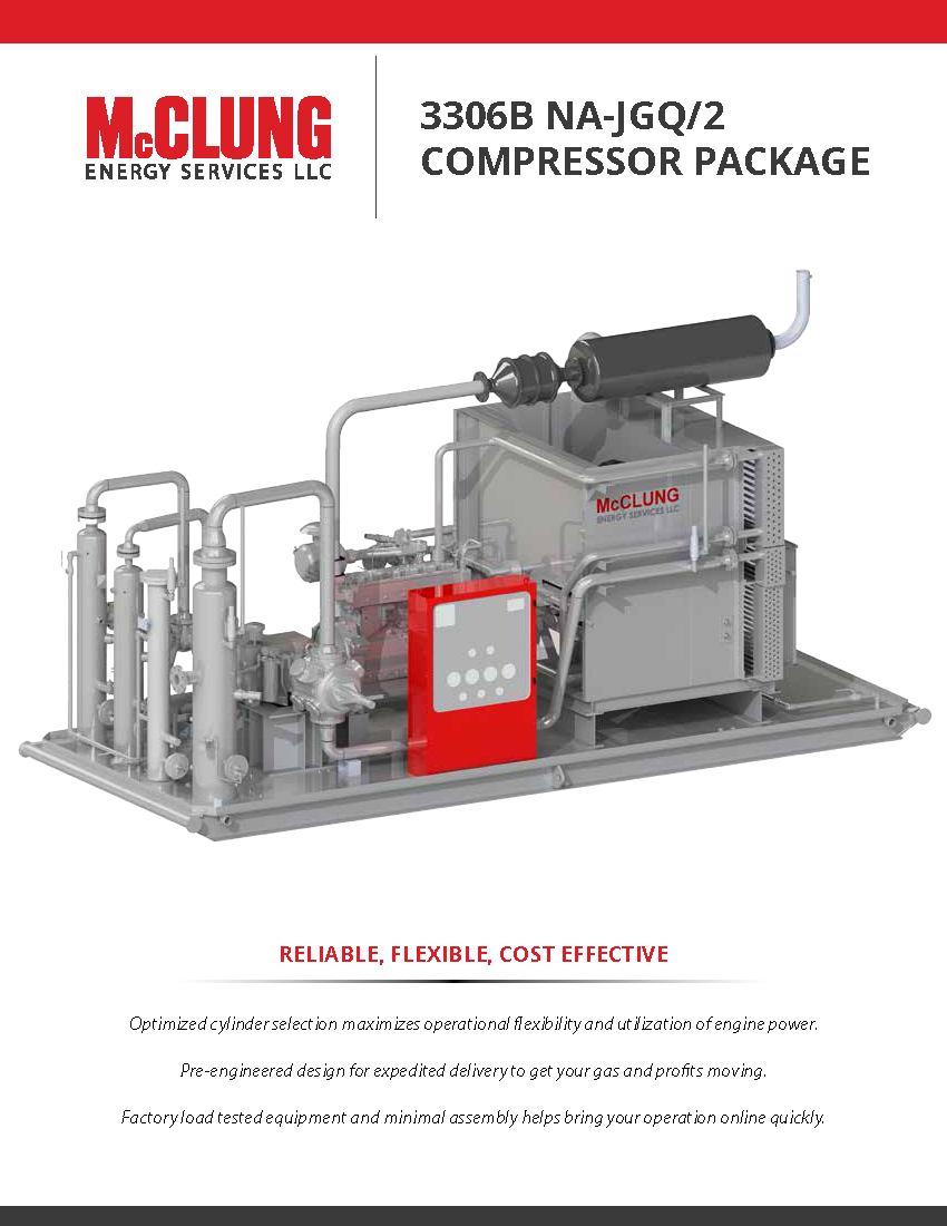 Mcclung Energy Services Custom Designed Gas Compressor Packages 3306 Cat Engine Diagram Na Brochure