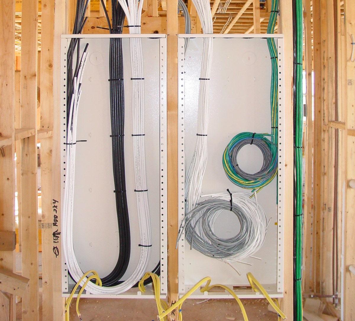 Structured Wiring Cabinet Prewire
