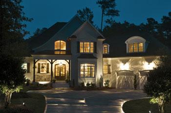 Exterior Home Lighting. Cool Kansas City Outdoor Lighting Examples ...