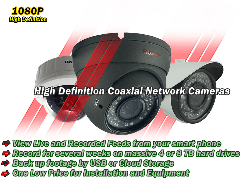 Bolide HD cameras over coax available from Electronics World