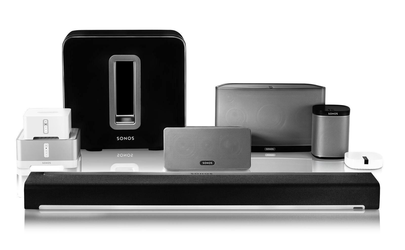 Complete line of Sonos products.