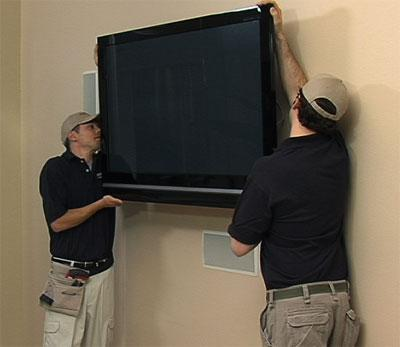 Mounting of your television by our technicians.