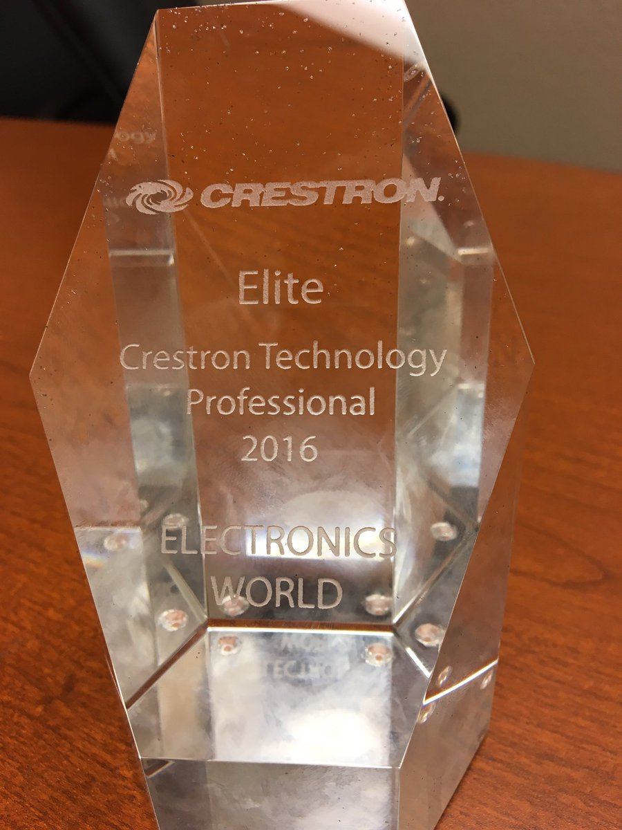 Crestron Elite Award