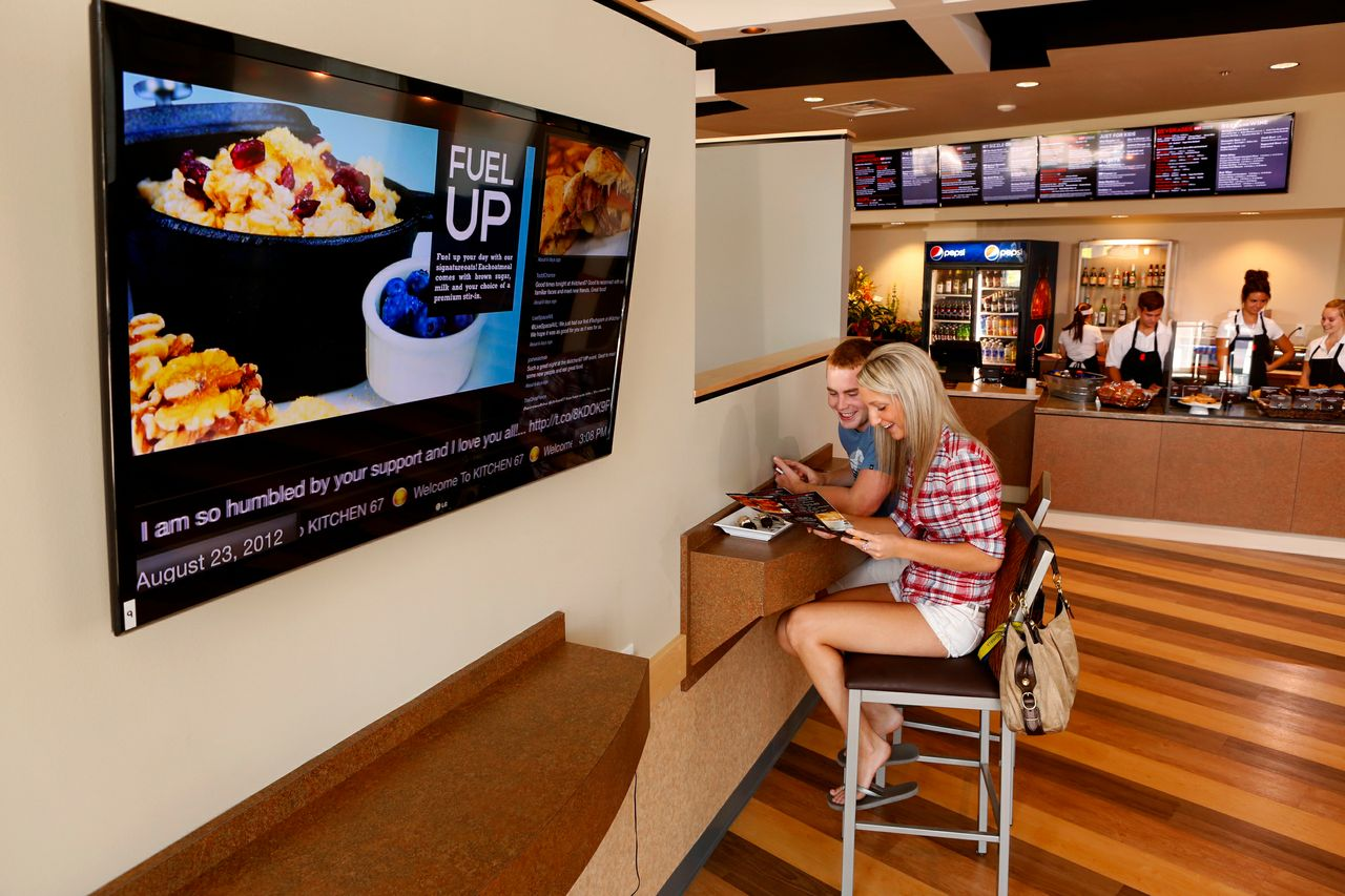 We install digital signage for retailers