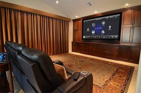 Control4 Custom Home Theater Hoppen Home Systems
