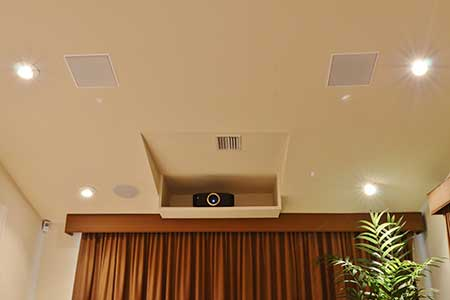 Projector in Theater Room